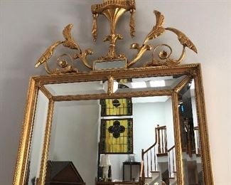 Wall Mirror with view of stained panels