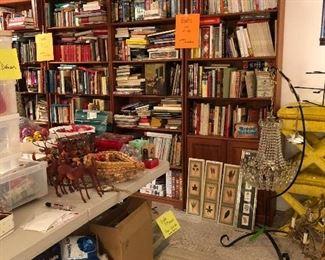 Books, Chandelier, etc