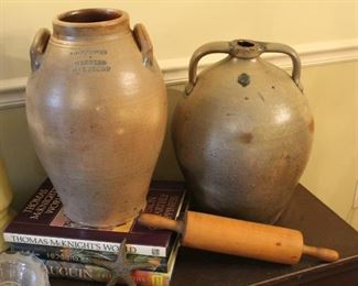 19th century stoneware crocks