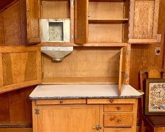 Antique Hoosier Kitchen Cabinet - So Pretty!