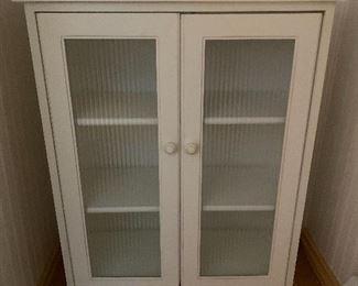 White utility cabinet