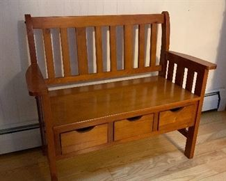 Bench with Drawers