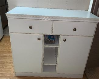Small white cabinet - for any room.... laundry, bathroom etc...