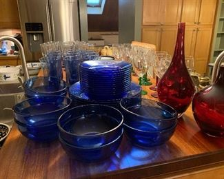 Cobalt Blue Glass Dishes