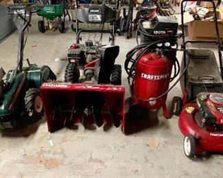 Craftsman Items!  Snowblower, Rototiller, Lawnmower Air Compressor