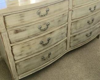 Distressed Mahogany Dresser