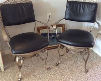 Metal Side Chairs.