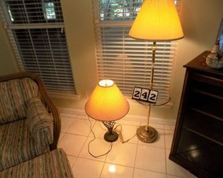 Lot 242 - Floor Lamp and Table Lamp