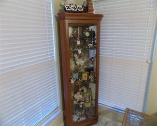 Lot 246 -Glass Front Corner Cabinet