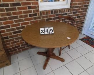 Lot 249 - Round Table & 4 Chairs