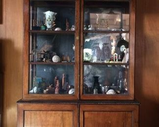 19th Century Rosewood Mirror Back Cabinet