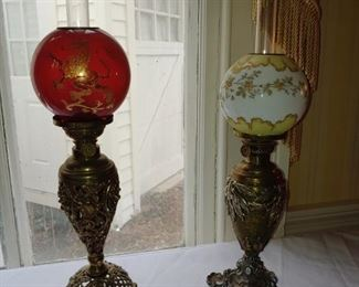 Collection of Antique Oil Lamps