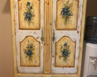 "1. Habersham Hand Painted Armoire (44"" x 19"" x 73"")"