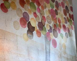 circle, lollipop, cherry tree artwork