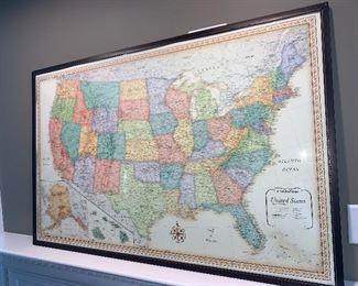 United States Map Artwork
