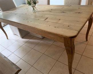 "9. Pine Farm Table (39"" x 84"" x 30"")"