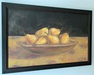 """10. Still Life of Pears by Paula Hamilton (49"""" x 33"""")"""