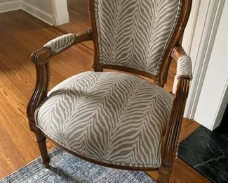 """19. Pair of Custom Upholstered French Provincial Side Chairs (25"""" x 18"""" x 37"""")"""