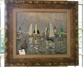"Andre Hambourg ""Sailboats"""