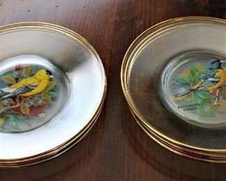 Glass Bird Plates