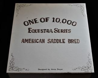 Porcelain American Saddle Bred Horse by Anna Dwyer (still in box) Western Distilling with Cork