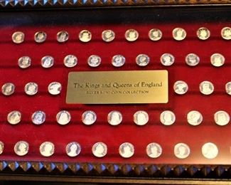King and Queens of England Mini-Coin Collection (Silver)
