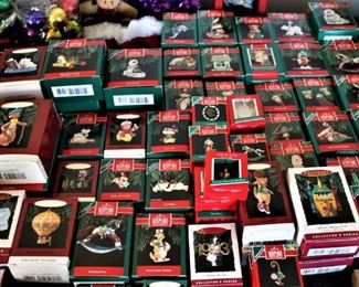 Lots of collectible Hallmark Ornaments