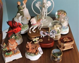A nice collection of Music Boxes