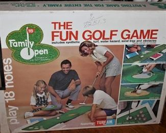 Nothing says family fun 70's style like a fun golf game