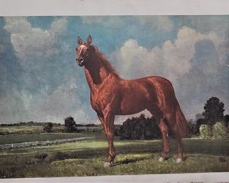 Man O War Lithograph Signed
