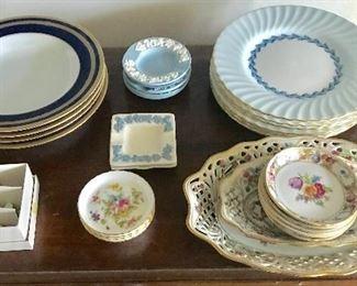 Christian Dior bowls, Minton plates and Schumann miscellaneous