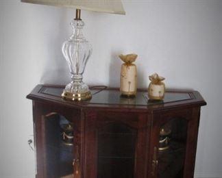 Console...Glass Lamp..