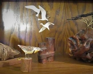 Handcarved Wooden Pieces