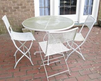 Iron Outdoor Table & Chairs #1