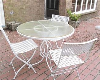 Iron Outdoor Table & Chairs #2