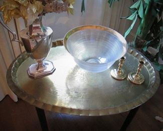 Brass Tray Table....