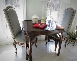 Game Table....Pair Chairs