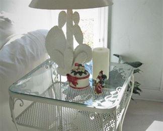 Iron Table 1 of 2....Ceramic Lamp...