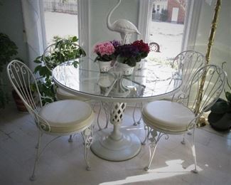 Iron Table & Chairs