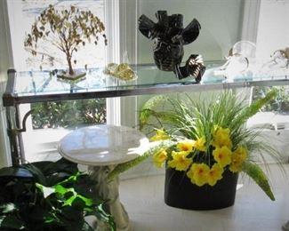 Chrome & Glass Sofa Table....