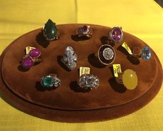 SAMPLING OF RINGS BEING OFFERED