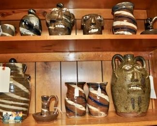Simply a wide variety of Burlon's pottery,