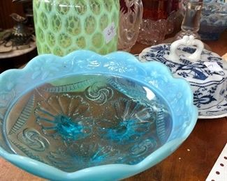 Nice group of late 19th century art glass