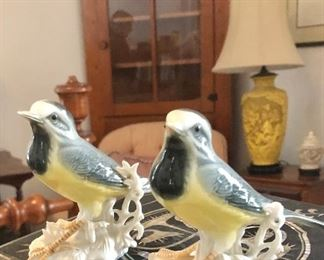 Karl ENS porcelain birds. Ens went out of business app 30 years ago