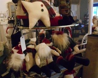 Musical Santa Pillow including Woof & Poof