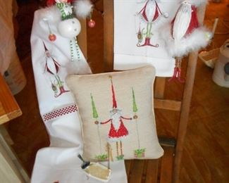 Department 56 Krinkles - Ornaments, Pillow & Towels