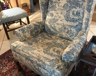 Upholstered Wingback Chair $ 68.00