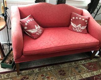 Red Upholstered Loveseat $ 134.00