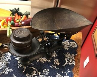 Antique Scale with Weights $ 62.00