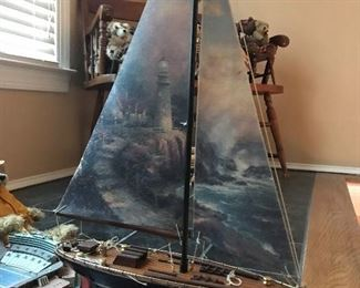 Model Sailboat with Painted Mast $ 38.00